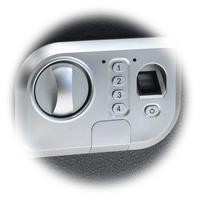 Elektronischer Tresor mit biometrischem Fingerabdrucksensor