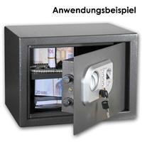 Elektronischer Tresor mit Schlüssel für manuelle Notöffnung