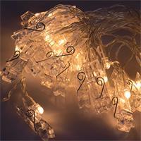 Ausgefallenene Lichterkette mit 20 oder 40 warmweißen LEDs