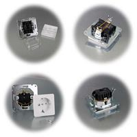 DELPHI Wechsel-Schalter und Steckdose OHNE Rahmen