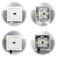 DELPHI LC-Duplex/SC-Simplex Netzwerkdosen, für Lichtwellenleiter