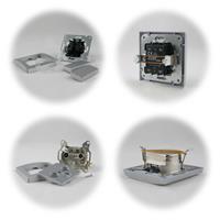 DELPHI 2-fach Serien-Schalter und Antennendose TV+Radio+Sat