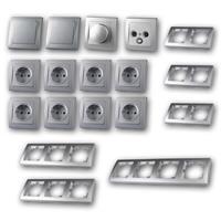 DELPHI Set living landscape with dimmer | 20 pieces, silver