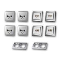 DELPHI Set Multimedia | 18 pieces, silver