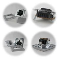 DELPHI Wechsel-Schalter und Steckdose silber