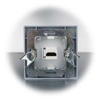 Unterputz-Einbaudose mit HDMI™ Buchse auf Vorder- und Rückseite