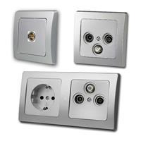 DELPHI Antennas/TV Sockets, IEC connection | silver, UP