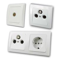DELPHI Antennas/TV Sockets, IEC connection | white, UP