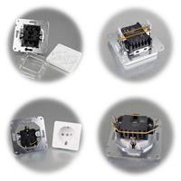 MILOS Wechsel-Schalter und Steckdose OHNE Rahmen