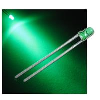 "10 LED 3mm diffused green ""WTN-3-2700gr"""
