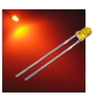 "10 LED 3mm diffused amber ""WTN-3-1500o"""