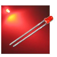 "10 LED 3mm diffused red ""WTN-3-2400r"""