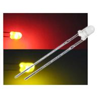 10 LED Bi-Pol 3mm diffus  Rot / Gelb - DUO-LED Set