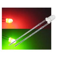 10 LED Bi-Pol 3mm diffus Rot / Grün - DUO-LED Set