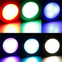 Komplett Set RGB Einbauleuchten Fine eckig oder rund