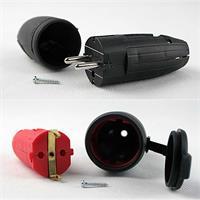 Schutzkontakt-Stecker und/oder -Kupplung für außen