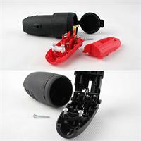Schutzkontakt Gummikupplung und/oder -stecker