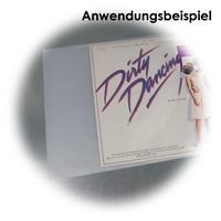 für alle LPs, Maxi- CDs und Doppelalben, transparent, leicht mattiert