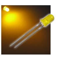 "10 LED 5mm diffused yellow ""WTN-5-1800ge"""