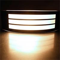 Warmweiß-leuchtende Außenlampe Fazenda mit Edelstahl-Front