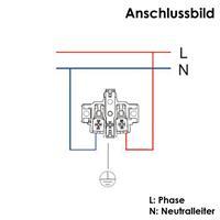 Anschlussbild für Feuchtraum Steckdose