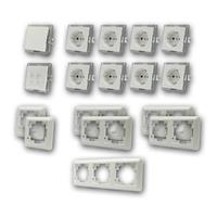 CUP Set office | 17 pieces, white, switch & network socket