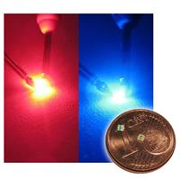 10 SMD LEDs 0603 two color red/blue