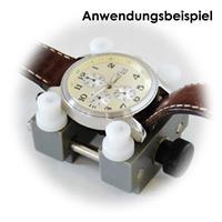 4 Kunststoffbacken, Einspannen von Uhrengehäusen