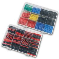 Shrink tubing set 2:1 | 560 pieces in PE box | 2 or 5 colour