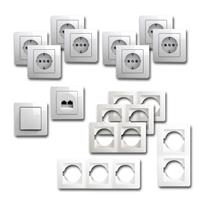 EKONOMIK Set office | 15 pieces, white, network socket