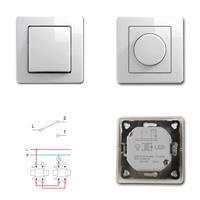 EKONOMIK Wechsel-Schalter und LED Dimmer, weiß, 250V~/10A, UP