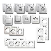 EKONOMIK Set entertain | 19 pieces, white, socket for ISDN