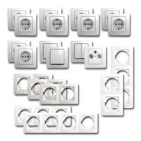 EKONOMIK Set comfort | 21 pieces, white, sockets & TV box