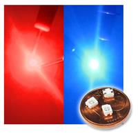 10 PLCC-2 SMD LED 3528 two colors, red/blue