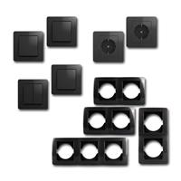 EKONOMIK Set hallway with button | 10 pieces, anthracite