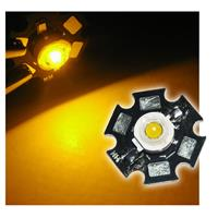 1 high power LED 1W yellow on PCB