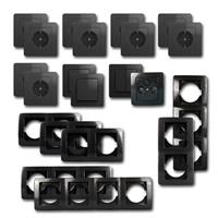 EKONOMIK Set comfort | 21 pieces, anthracite, with TV box