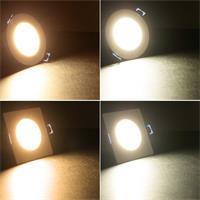 LED-Einbauleuchte in 2 Bauformen und 2 Lichtfarben