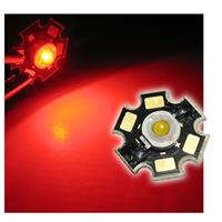 Highpower LED 3W rot auf PCB - RED