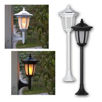 "LED Solar Lantern ""Flame"", white/ black 