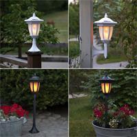 LED Gartenlaterne mit 4 Aufbauvarianten, Solar Leuchte