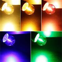 LED Leuchtmittel in 5 Farben mit klarer Glasabdeckung