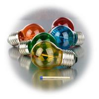 LED Schmucklampen in Glühbirnenform mit Glaskörper