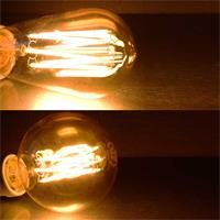 LED Retro Birne VINTAGE Filament mit E27-Sockel