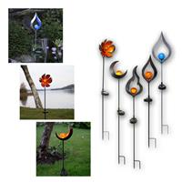 LED solar bars Melilla | LED garden lights with glass ball