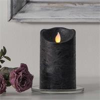 LED Wachskerze M-Twinkle, schwarz, 12,5x7,5cm