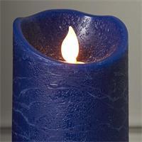 LED Wachskerze M-Twinkle, blau, 12,5x7,5cm
