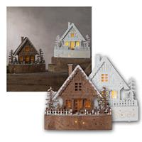 LED Leuchthaus Trier | LED Weihnachtshaus aus Holz | IP20