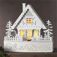 batteriebetriebenes LED Weihnachtshaus für mit 8 LEDs