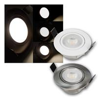 LED downlight McSHINE Eco-54 230V/5W pivoted  stainless stee